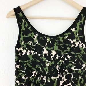 Top Shop Low Back Camouflage Leopard Tank NWT